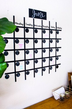 If you have the space use a wall calendar to keep track of your progress and what you need to accomplish in the upcoming weeks.